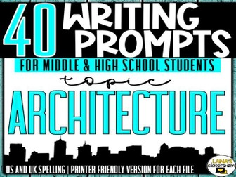 Daily Writing Prompts | Architecture | Middle and High School