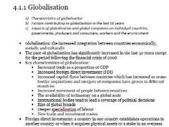 Edexcel A-level Economics Unit 4.1 International economics