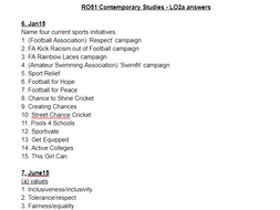 LO2a questions and answers - OCR Cambridge National Sports ...