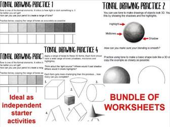 KS3 Tonal Practice Starter Worksheets - BUNDLE