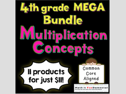 4th Grade Multiplication Concepts Mega Bundle