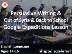Persuasive Writing #GoogleExpeditions Lesson