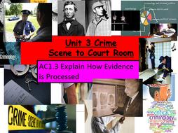 Criminology Level 3(New Spec)Unit 3 Crime Scene to Court Room AC1.3Explain How Evidence is Processed