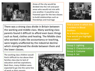 OCR GCSE Blood Brothers Lessons