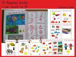 10 Basic Maths Adapted Books.