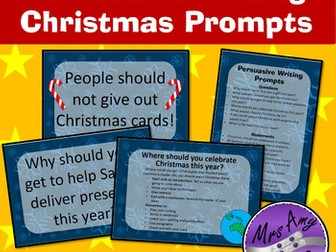 Persuasive Writing Christmas Prompts