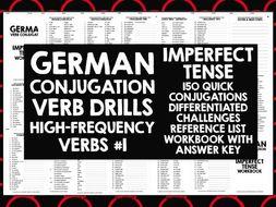 GERMAN CONJUGATION PRACTICE IMPERFECT TENSE #1