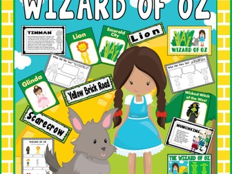 WIZARD OF OZ STORY RESOURCES-  EYFS KS1-2 ENGLISH LITERACY DISPLAY