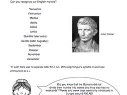 Roman Calendar.Roman Calendar Assignment
