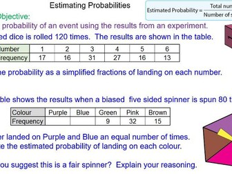 Adding Punctuation Worksheet Excel Predicting Outcomes Using Probability By Mrmathematics  Teaching  Worksheets On Slope Intercept Form Pdf with Antonym Worksheets 1st Grade Pdf Predicting Outcomes Using Probability By Mrmathematics  Teaching  Resources  Tes Proper Nouns Worksheet First Grade Pdf