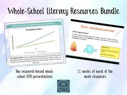 Whole-School Literacy Resources Bundle