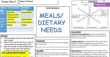 GCSE Food controlled assessment – Initial ideas GUIDANCE