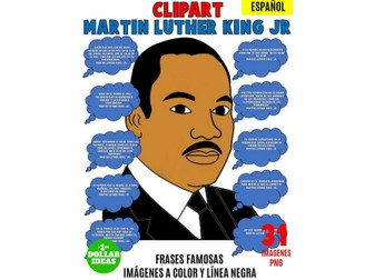 MARTIN LUTHER KING JR CLIPART | SPANISH QUOTES |MARTIN LUTHER KING ACTIVITIES