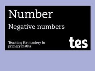 Negative numbers: Teaching for mastery booklet