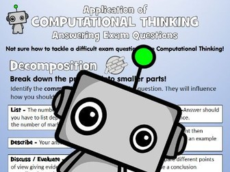 Application of Computational Thinking: Answering Exam Questions