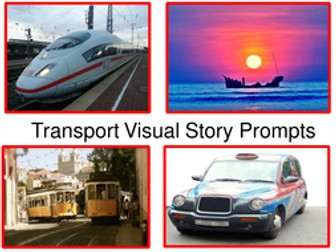 Transport Visual Story Prompts - Creative Writing Prompts Using All 5 Senses.