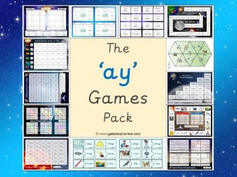 The 'ay' Phonics Games Pack (Phase 5)