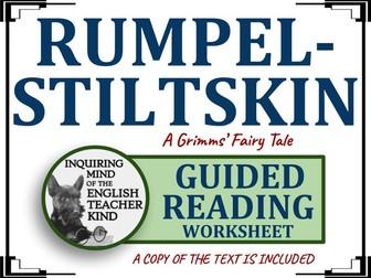 """Rumpelstiltskin,"" a Grimms' Fairy Tale - Guided Reading & Annotating Worksheet"