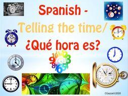 Spanish – Telling the Time. ¿Qué hora es?