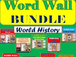 WORD WALL Posters BUNDLE Posters (World History)