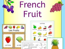 French Fruit - Les Fruits - Activities, Games, Puzzles