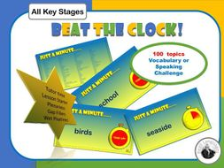 Vocabulary and Speaking Challenge.  Animated PowerPoint.