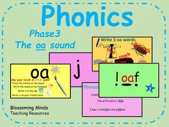 Phonics Phase 3 - The 'oa' sound