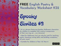 english worksheet poetry similes halloween ks2 03 by stpbooks teaching resources. Black Bedroom Furniture Sets. Home Design Ideas