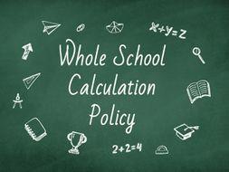 Whole School Calculation Policy - EVALUATION COPY