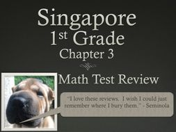 Singapore 1st Grade Chapter 3 Math Test Review (7 pages)