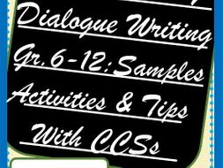 Introduction to Dialogue Writing - Complete Unit - Samples, Activities and Tips, Gr. 6 -12