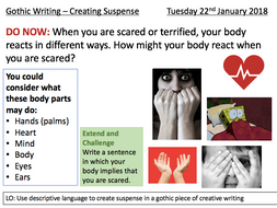 Gothic Writing Suspense - Interview Lesson