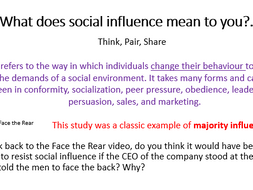 AQA PSYCH A-Level - Intro to Social Influence