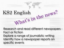 KS 2 English News Fact or Fiction