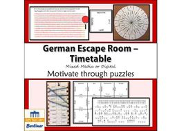 End of year German Escape room Der Stundenplan