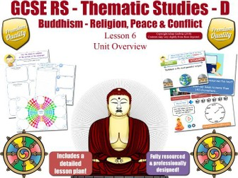 GCSE Buddhism - Violence & War, Nuclear Weapons, Peace & Pacifism (Religion, Peace & Conflict)  L6/7