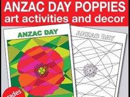 Anzac Day Commemoration Poppy Art Activities and Poster Resource Pack