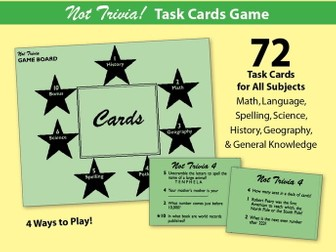 Not Trivia! Task Card Game for All Subjects - Grade 4