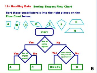 Sorting Shapes using a  Flow Chart