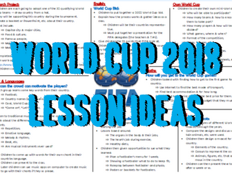 World Cup 2018 Lesson Ideas