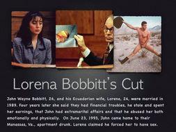 Bobbitt  ~ Penis Cut Off  ~ Domestic Violence  Criminal Law + Quiz + Flashcards = 51 Slides
