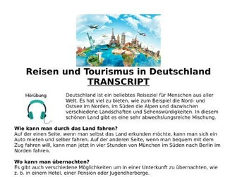 Urlaub in Deutschland (Holidays) - Listening MP3 & Transcript