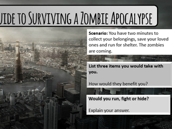 A Guide to Surviving a Zombie Apocalpyse