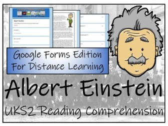 UKS2 Albert Einstein Reading Comprehension & Distance Learning Activity