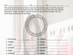 Present Simple Tense Statements Decoder Ring