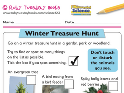 Winter treasure hunt - seasonal changes by RubyTuesdayBooks