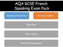 GCSE French Speaking Exam Pack