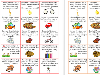Addition and Subtraction Word Problems- Year 1- DIFFERENTIATED by ...