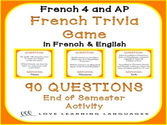 GCSE FRENCH: French Trivia Game