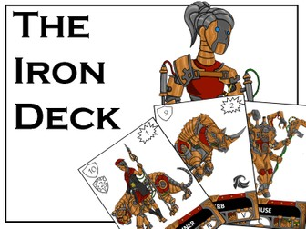 BATTLING GRAMMAR - The Iron Deck for the exciting, KS2 grammar card game